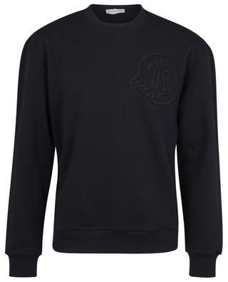 Sweat-shirt à col rond avec logo maxi et bande tricolore MONCLER