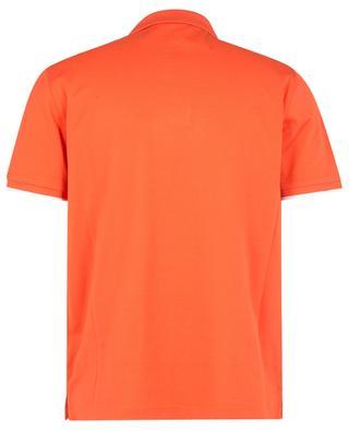 Polohemd aus Baumwollpiqué mit weissem Logopatch und Kontrastborten MONCLER