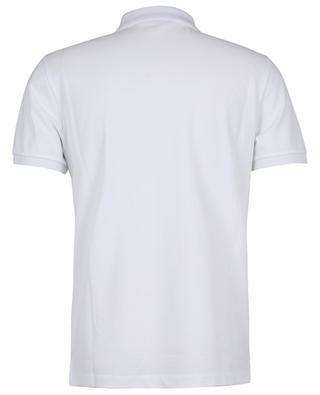 Polohemd aus Baumwollpiqué mit Oversize-Monogramm und Logo MONCLER