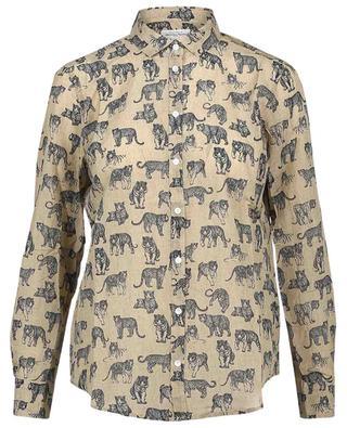 Hemd aus Baumwolle und Seide mit Raubkatzenprint Corazon HARTFORD