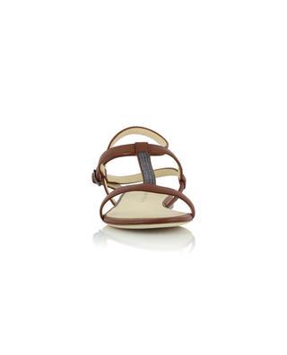 Sandales multi-brides plates en cuir et perles FABIANA FILIPPI