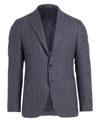 Checked wool and silk blazer NAPOLI COUTURE
