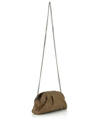 Gathered nappa leather clutch FABIANA FILIPPI
