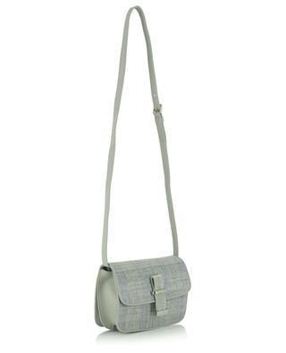 Melania small linen and leather satchel bag FABIANA FILIPPI