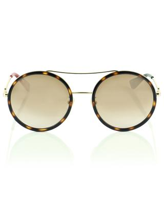 Runde Aviator-Sonnenbrille im Leopardenlook GUCCI