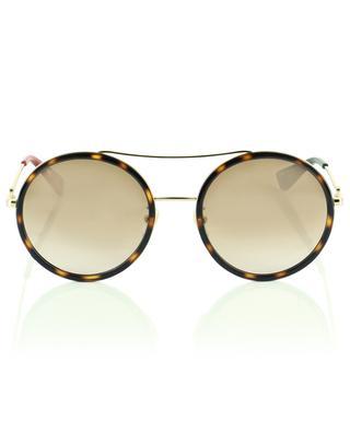 Round leopard-style aviator sunglasses GUCCI