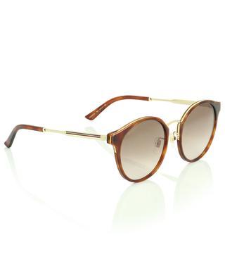 Runde Sonnenbrille mit dreifarbigem Steg GUCCI