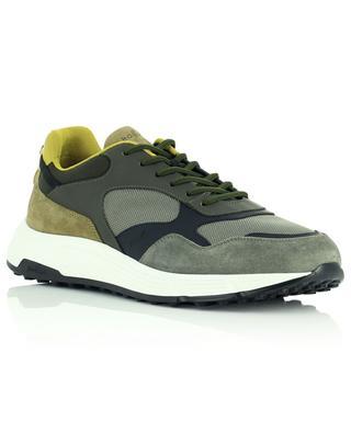 Materialmix-Sneakers in Khakitönen Hogan Hyperlight HOGAN