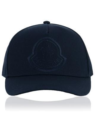Casquette en toile brodée logo coq MONCLER