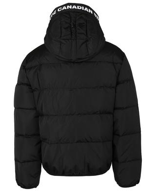 Hooded maple leaf print down jacket DSQUARED2