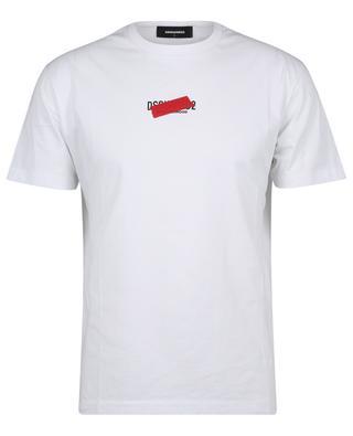 T-shirt en coton imprimé logo Brotherhood Tape Cool Fit DSQUARED2