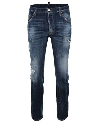 Skater distressed cotton-blend jeans DSQUARED2
