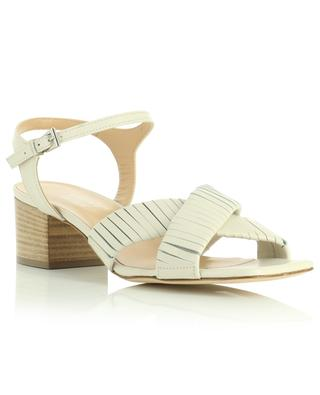 Block heeled square toe leather sandals 50 BONGENIE GRIEDER