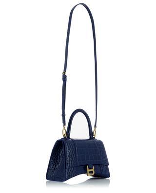 Handtasche aus Leder in Kroko-Optik Hourglass Top Handle Small BALENCIAGA