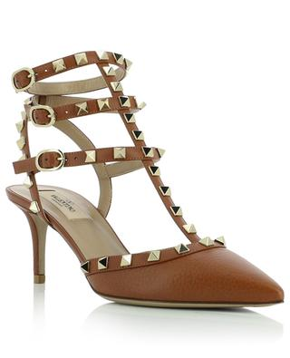Rockstud Ankle 65 grained leather strappy pumps VALENTINO