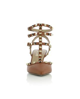 Escarpins à brides en cuir grainé Rockstud Ankle 65 VALENTINO
