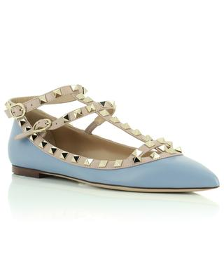 Rockstud Caged strappy leather ballet flats VALENTINO
