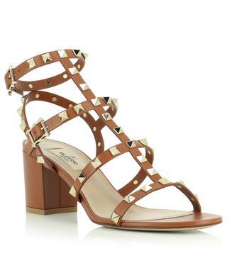 Sandales en cuir à talon carré Rockstud 60 VALENTINO