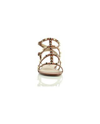 Sandales plates en cuir à bouts carrés Rockstud VALENTINO