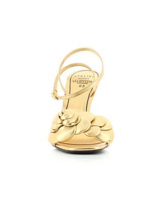 Sandales à talon en cuir nappa doré Atelier 03 Rose Edition 100 VALENTINO