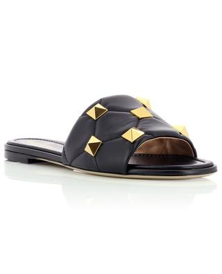 Roman Stud flat quilted nappa leather slides VALENTINO