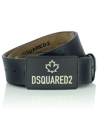 Maple Leaf grained leather belt DSQUARED2