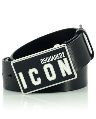 Ceinture en cuir à plaque rectangulaire ICON DSQUARED2