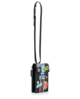 Kleine Herren-Umhängetasche aus genarbtem Leder Take A Trip DSQUARED2