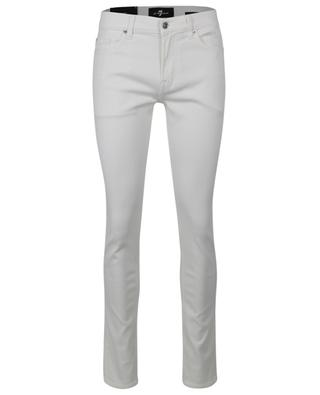 Ronnie Stretch Tek Summer Time white skinny jeans 7 FOR ALL MANKIND