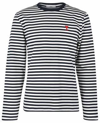 Besticktes Langarm-T-Shirt im Marine-Stil Ami de Coeur AMI