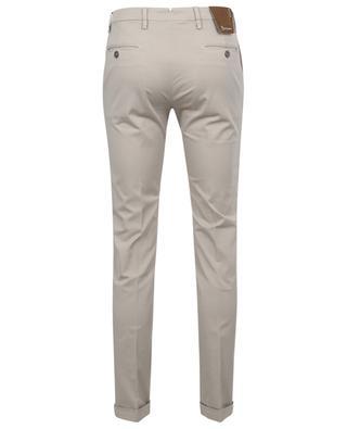 Slim fit gabardine chino trousers with turn-ups B SETTECENTO
