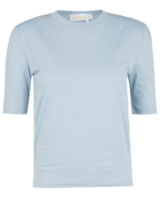 Xenia Ashley Blue o-neck T-shirt with shoulder pads REMAIN BIRGER CHRISTENSEN