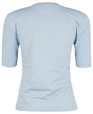 Rundhals-T-Shirt mit Schulterpolstern Xenia Ashley Blue REMAIN BIRGER CHRISTENSEN