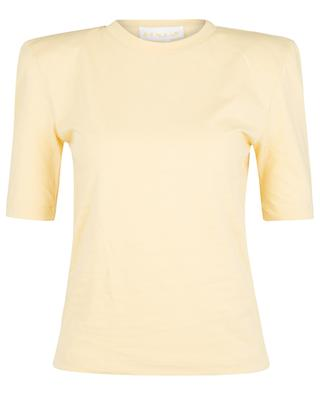 Xenia Straw o-neck T-shirt with shoulder pads REMAIN BIRGER CHRISTENSEN