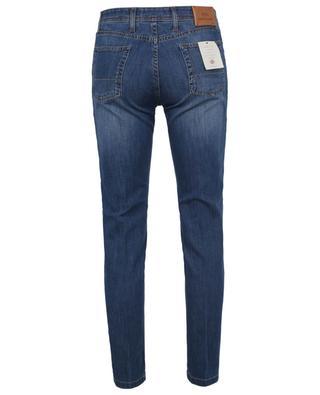 Ausgewaschene ökologische Slim-Fit-Jeans B SETTECENTO