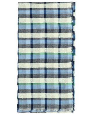 Écharpe à carreaux en soie, coton et cachemire Ennio 19 ANDREA'S 47