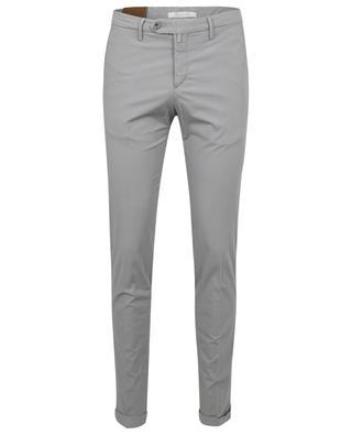 Pantalon slim en popeline stretch B SETTECENTO