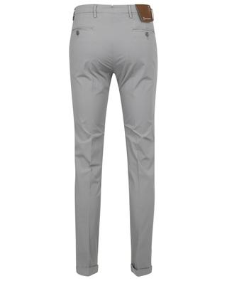 Cotton stretch poplin slim fit trousers B SETTECENTO