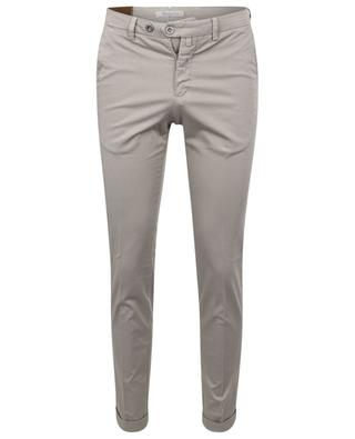 Slim-fit dice and polka dot print chino trousers B SETTECENTO