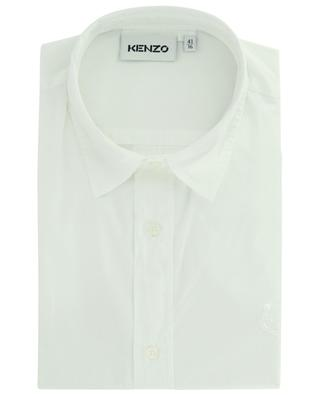 Tiger Crest embroidered poplin casual shirt KENZO