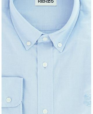 Tiger Crest embroidered textured cotton oxford shirt KENZO