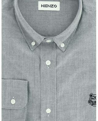 Chemise oxford en coton texturé brodé Tiger Crest KENZO