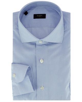 Chemise à manches longues en coton à fines rayures BARBA