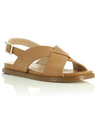 Flat leather sandals with square toes BONGENIE GRIEDER