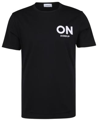 Kurzarm-T-Shirt aus Jersey mit Logo-Stickerei ON DONDUP