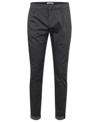 Gaubert slim fit poplin trousers with waistband tucks DONDUP