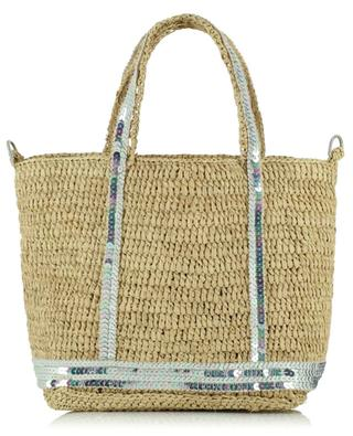 Cabas Baby S Opale mini raffia tote bag with sequins VANESSA BRUNO