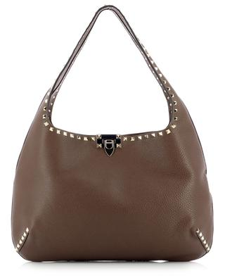 Rockstud Hobo studded large grainy leather bag VALENTINO