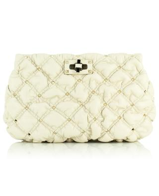 Spike Me studded quilted nappa leather clutch VALENTINO
