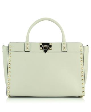 Rockstud Small grained grey leather handbag VALENTINO